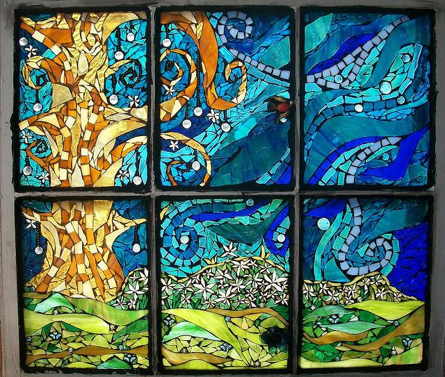 Mandolin mosaics for Custom wood windows online